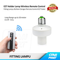 Fitting Lampu Bohlam E27 Wireless Remote Control Light Bulb Holder