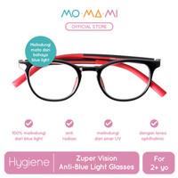 Momami Zuper Vision Anti-Blue Light Glasses-Kacamata Anti Radiasi-Red