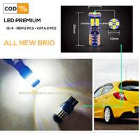 Paket lampu EXTRIME LED bag belakang NEW BRIO - REM + SENJA isi 4 buah