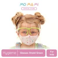 Momami Comfi Face Glasses Shield - Green (Face Shield Anak)