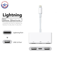 iPhone 3 in 1 Lightning to USB 3 Camera Adapter OTG Support Flashdisk