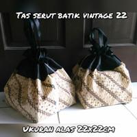 tas serut batik etnik 22 utk hajatan / nasi kotak dus kue tumpeng mini