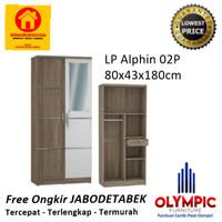 Lemari Pakaian Minimalis - Alphin - Olympic - 2 Pintu