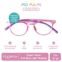 Momami Zuper Vision Anti-Blue Light Glasses-Kacamata Anti Radiasi-Pink