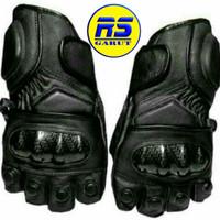 Sarung tangan kulit asli sarung tangan motor (RS-321) - Hitam, L