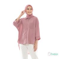 Atasan Muslim Wanita | Oversized Blouse Pink | Original