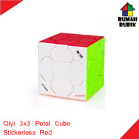 Rubik 3x3 Qiyi Petal Cube Stickerless Red / MFG2026SR