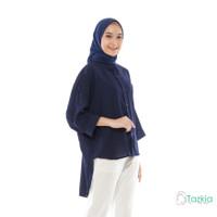 Atasan Muslim Wanita | Oversized Blouse Navy | Original