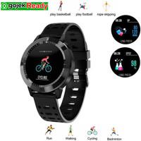 Jam tangan Smartwatch Multi Sport / Tracker / Detak Jantung Waterproof - Hitam