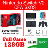 Nintendo Switch Neon Blue Red CFW 128GB SX OS Full Game Auto Dual Boot