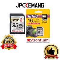 Memory Card Strontium Nitro SDHC 16GB UHS-I 95MB/s SD Card ORIGINAL