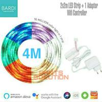 Paket BARDI Lampu Smart LED Strip Wifi RGBWW 4 Meter + ADAPTOR 1A