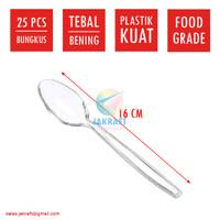 Sendok Makan Plastik Bening Clear Transparan Tebal Panjang Berkualitas