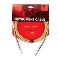 D'ADDARIO BRAIDED INSTRUMENT CABLE 10FT TWEED PW-BG-10TW (406000241)