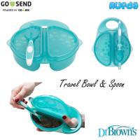 Dr Browns Travel Fresh Bowl and Spoon Set Mangkok Sendok Makan Bayi