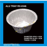 ALUMINIUM MODEL CUP RX-0346- WADAH ALUMINIUM FOIL CUP RX 0346