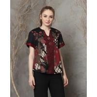 Atasan batik wanita batik modern (208AAN) - uk Standart