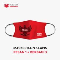 Masker Kain 3 Lapis (3 Ply) Earloop - DAMN I LOVE INDONESIA Pancasila