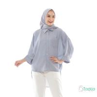 Atasan Muslim Wanita | Oversized Blouse Abu| Original
