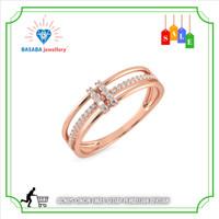 cincin berlian eropa termurah emas asli 750