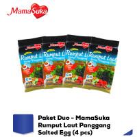 Paket Duo - MamaSuka Rumput Laut Panggang Salted Egg (4 pcs)
