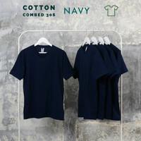 Kaos polos pria, wanita size normal big size jumbo size Navy