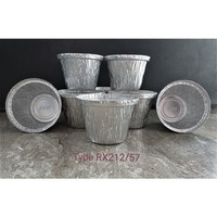 ALUMINIUM MODEL CUP RX-212/57 - WADAH ALUMINIUM FOIL CUP RX 212-57