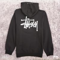 Stussy Basic Zip Up Hoodie Black Original