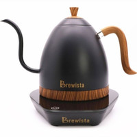 Electric Kettle Brewista Gooseneck 600ml Hitam Kayu. Terbaru