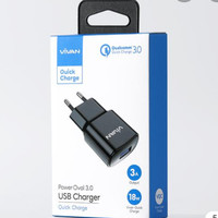 Charger Vivan power oval 18w quick charge 3.0