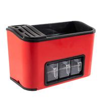 Rak Bumbu Dapur Small Serbaguna Dengan Tempat Pisau TBD002