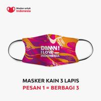 Masker Kain 3 Lapis (3 Ply) Earloop - DAMN I LOVE INDONESIA Modern