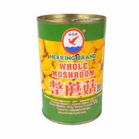 Herring Brand Whole Mushroom / Jamur Kancing Kaleng 400 gram