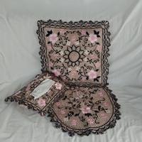 Satu Set Sarung Bantal/ Sarung bantal bordir/ sarung bantal cantik