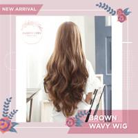 Wig Rambut Palsu Wanita Model Panjang Ikal Curly Wavy Hair Clip 65cm