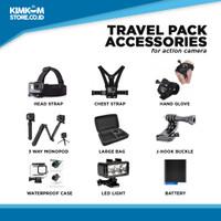 Travel Pack Aksesoris Action Camera GoPro, Xiaomi Yi, SJ Cam, Bpro