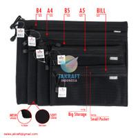 Zipper Document Bag B4 JOYKO DCB-49 Laptop Buku Dokumen File F4 & A4