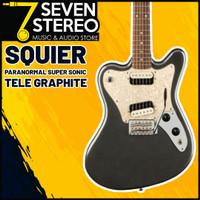 Squier Paranormal Super-Sonic Electric Guitar - Graphite Metallic