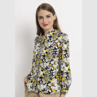 Point One VIVIAN Floral Blouse Yellow