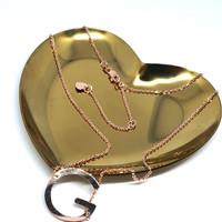Kalung emas HWT initial G