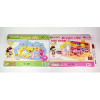 Mainan anak Puzzle dream villa 3D Puzzle 3D DIY Mainan Edukasi