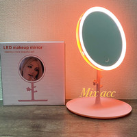 A5 Cermin Rias / Kaca Make Up With lampu LED MAKEUP MIRROR RING LIGHT - Putih