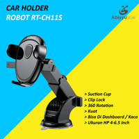 ROBOT RT-CH11S Car Holder Mobil Universal 360 Rotate For HP Smartphone