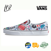 SEPATU VANS CLASSIC SLIP ON MASH UP STICKERS PACK ORIGINAL