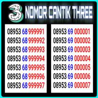 Nomor cantik kartu TRI 3 THREE 4G panca 00000 99999 murah & terjangkau