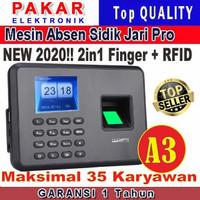 MESIN ABSENSI / MESIN ABSEN / SIDIK JARI / FINGER PRINT A3 TERMURAH