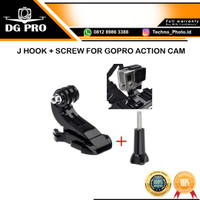 J Hook Adapter Mount With Thumb Knob Screw Baut for Action Cam
