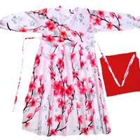 Gamis Anak Rempel Sakura merah