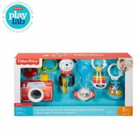 Fisher Price Tiny Take Alongs Gift Set Mainan Gantungan Nak Bayi