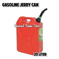 Jerigen Bensin Solar Plastik Tebal HDPE 20 Liter / Gasoline Jerry Can